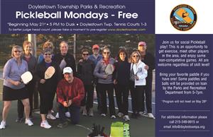 2018 Pickleball Mondays Flyer